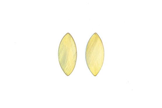maraljoies-Pendientes Navette dorados