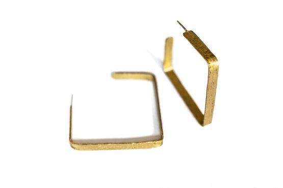 Aros cuadrados Dorados