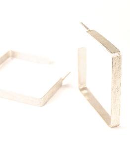 Aros cuadrados Plata