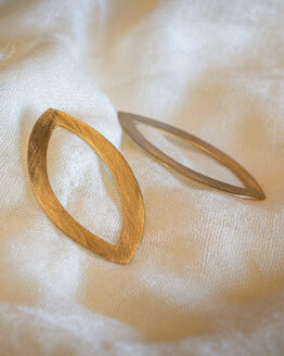 maraljoies-Pendientes Navette-Gold