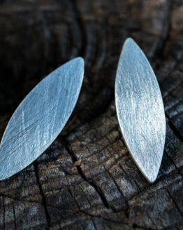 Maraljoies - Pendientes NAVETTE pequeños Plata